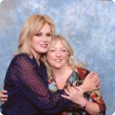 Jayne with Joanna Lumley